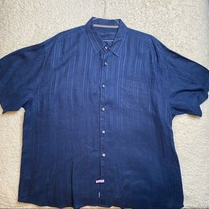 Tommy Bahama Blue Linen Button Down